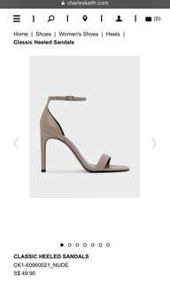 Charles and Keith nude strappy heels