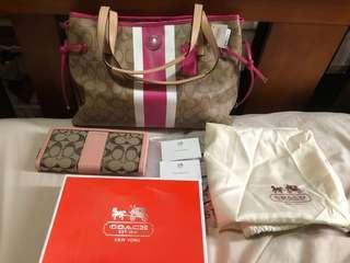 Original coach bag & wallet set