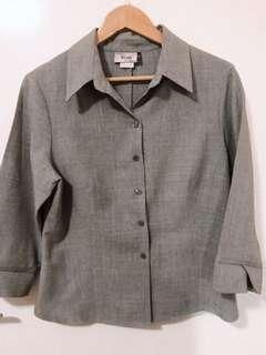Vintage Grey Blouse