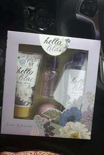 hello lilac gift set