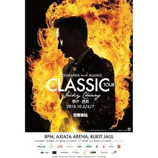 Jacky Cheung A Classic Tour Concert 6th Oct 2018 CAT 3 (2 Tickets)
