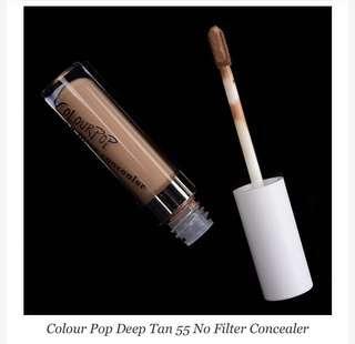 Colourpop No Filter Concealer: DEEP TAN 55