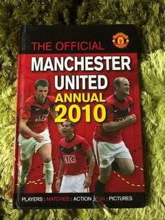 Manchester United Official Annual book 2010 hardcover