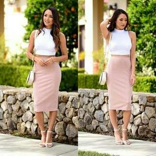 Inspired Crop top & Pencil Skirt