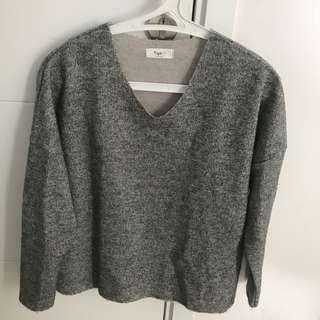 Sweater grey korean brand