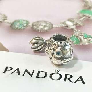 Pandora Golden Fish Silver Charm