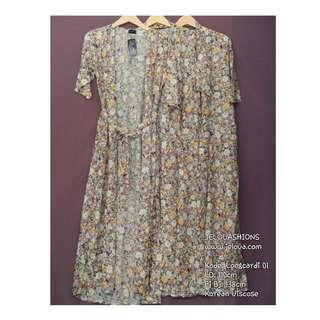 Long Cardigan Tropical Flowers -Premium Quality Clothing - Je-Longcardi.01