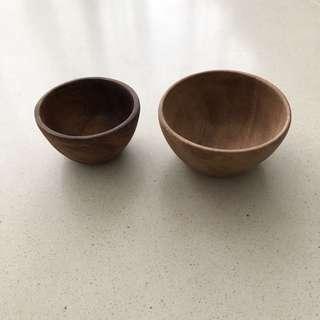 MUJI Acacia Bowls