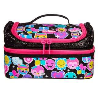 Smiggle Hits Double Decker Luncbox Pink/Black