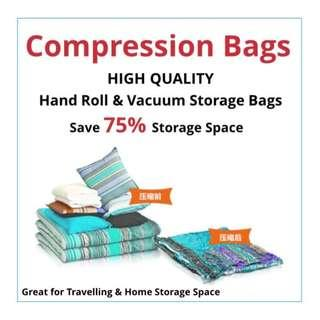 Space Saving | Hand Roll Seal Compressed Bag | Vacuum Compressed Bag | Great for Travelling