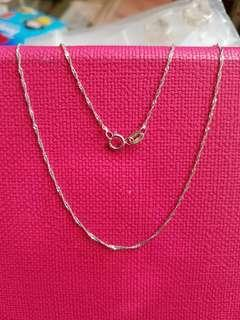 14K585 White Gold Necklace ❤ NEW❤ Italy Gold 14K585白金頸鍊