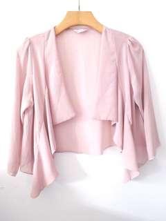 Outer pink bahan chiffon like new