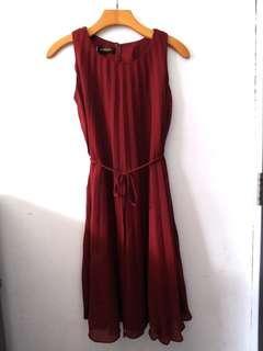 Dress maroon new, belum pernah dipakai