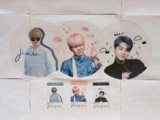 BTS JIMIN韓站透扇set