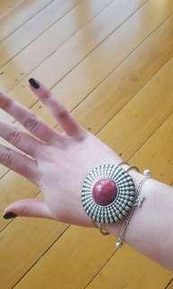 Red festival bracelet