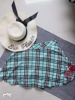 Plus size checkered skirt