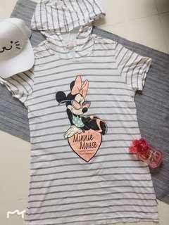 Minnie striped hoodie