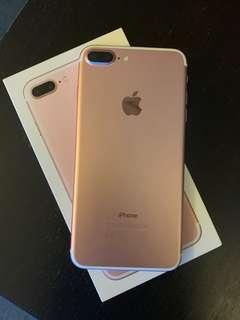 iPhone 7+ Rose gold 128.gb