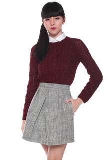 Love Bonito Ansel Tweed Pleat Skirt