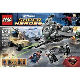 LEGO® DC Universe™ Super Heroes ​76003 Superman™: Battle of Smallville (Retired/MISB)