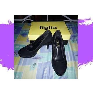 Figlia Black Suede Heels *REPRICED*
