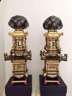 Antique pewter Display