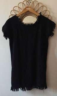 MANGO BLACK KNITTED MINI DRESS