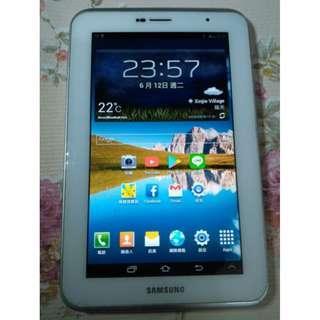 🚚 Samsung Galaxy Tab 2 7吋3G 8GB電話平板,附全新充電線,安卓4.1,功能都正常,只賣2100元