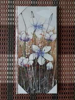 Wall Blue Flower Picture Frame Decoration (Set of 2 Frames)