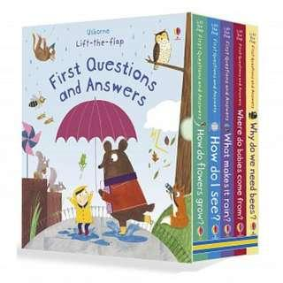Usborne Lift-the-flap First Questions and Answers Box Set - 5 books / set