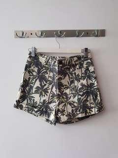 Love Bonito Palm Tree Denim Shorts