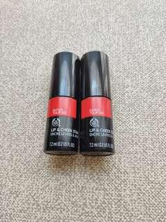 Body Shop Cheek & Lip Stain @40, $70 for 2