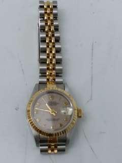 ROLEX DATEJUST 金鋼女裝手錶