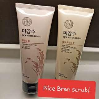The Face Shop Rice Water Bright Rice Bran Cleansing Foam 150ml