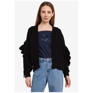 LOST INK Extreme Chunky Ruffle Cardigan