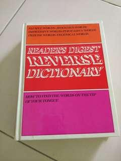 REVERSE DICTIONARY - READERS DIGEST