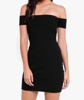 BNEW MANGO Off-shoulder Bodycon Dress