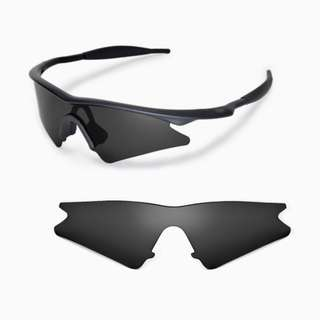 d04ebc59a7 M Frame Sweep Black POLARIZED Walleva Replacement Lenses for Oakley M Frame  Sunglasses