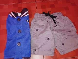 bundle ootd jacket and short