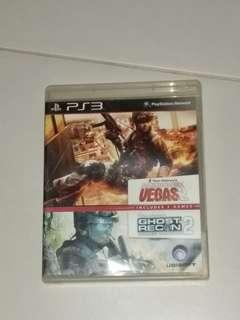 (PS3)(2in1)Rainbow Six:Vegas 2 + Ghost Recon:Advanced Warfighter 2