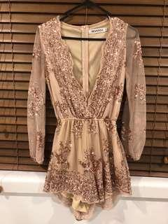 rose gold playsuit