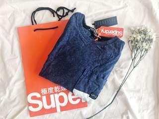 Superdry 極度乾燥 深藍口袋經典短袖 上衣 短T 男款 XS號(女孩也穿得下喔)