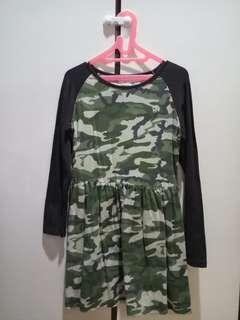 Long-Sleeved Camo Dress