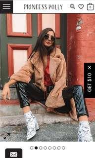I am gia fake fur jacket