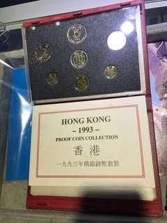 香港1993年精鑄錢幣套裝