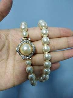 金屬頸鏈 項鍊 仿珍珠 metal necklace chain fake pearl