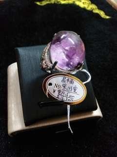 🔮【激罕】晶中晶紫幽靈戒指🔮