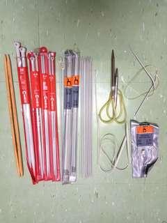 二手 全套$50共35支 織針 鈎針 蛇針