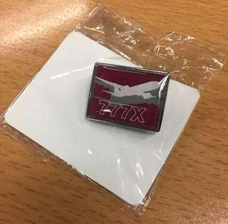 Boeing company model 777X Souvenir Pin 波音 襟針 襟章 紀念品