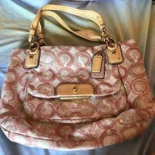 Original Pink Coach Bag (Medium) From Japan